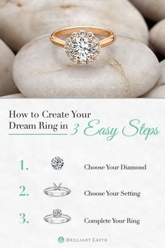 Create your own diamond ring! Select your ideal ring setting and pair it with an exceptionally beautiful, conflict-free diamond.