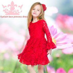 Dressy Dresses For Little Girls 2015 New Original Fashionable Cute Girl Dress Red Bubble Sleeves Bud Silk Mermaid +Cotton Lining Knee Length Princess Van Dress Princess Dresses For Girls From Techemall, $18.71  Dhgate.Com
