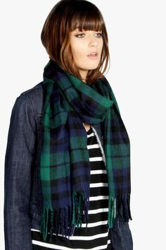 Please click on the picture to go to the detail page. boohoo Maisie Tartan Check Scarf