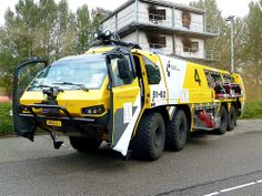 Airport Fire Engine from the Netherlands. Fire Equipment, Heavy Equipment, Fire Dept, Fire Department, Cool Fire, Rescue Vehicles, Expedition Vehicle, Futuristic Cars, Fire Apparatus
