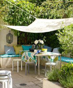 Gartendeko selber machen – farbenfrohe DIY Gartenideen - Gartendeko selber machen esstisch bäume