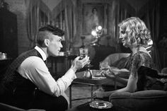 Tommy and Grace. Peaky Blinders Grace, Peaky Blinders Poster, Peaky Blinders Series, Peaky Blinders Quotes, Peaky Blinders Thomas, Cillian Murphy Peaky Blinders, Series Movies, Tv Series, Steven Knight