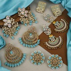 Antique Jewellery Designs, Fancy Jewellery, Indian Jewellery Design, Indian Jewelry, Jewelry Design, Bollywood Jewelry, Turquoise Earrings, Designer Earrings, Bling