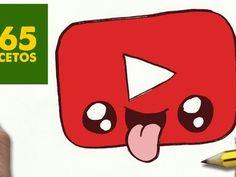 COMO DIBUJAR LOGO YOUTUBE KAWAII PASO A PASO - Dibujos kawaii faciles - How to draw a logo YOUTUBE