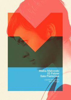 Poster Maika Makovski by Quim Marin, via Behance