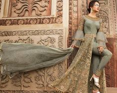 Looking to buy Anarkali online? ✓ Buy the latest designer Anarkali suits at Lashkaraa, with a variety of long Anarkali suits, party wear & Anarkali dresses! Bridal Anarkali Suits, Pakistani Dresses, Indian Dresses, Indian Outfits, Indian Style Clothes, Indian Wedding Gowns, Wedding Dresses, Long Choli Lehenga, Lehenga Suit