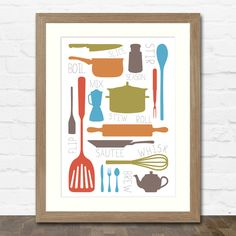Cooking Collection A4 Typographic Kitchen Art Print £11.00