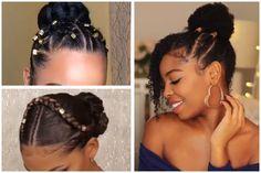 Braided Bun Hairstyles for Black Hair 2020 Not Your ordinary Bun Beautiful Bun Hairstyles for Black Women Cute Bun Hairstyles, Girls Natural Hairstyles, Easy Hairstyles For Medium Hair, Black Women Hairstyles, Summer Hairstyles, Beautiful Hairstyles, African Hairstyles, Hairstyle Ideas, Braided Hairstyle