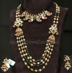 Peaccok Beads Set and Mango Necklace | Jewellery Designs