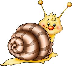 Brown Snail Cartoon PNG Picture