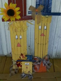 Scarecrows I made with tobacco sticks