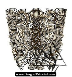 Celtic Dragons And Cross By Tattoo Designdeviantart