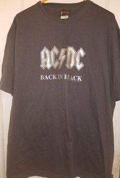 d4a794cb34eaa AC DC Thunderstruck Men s Black T shirt circa 2006 Aces   Eights 25 x 28