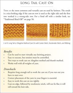 Knitting Stitches Long Tail Cast On : 1000+ images about Loom Knitting: Tutorials on Pinterest Loom knit, Loom an...