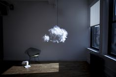 A Fluffy Cloud Lamp That Plays Music - DesignTAXI.com