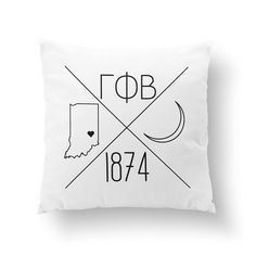 Gamma Phi Beta Pillow AND insert personalized with YOUR city and state! Choose from a cute 10 pillow or cozy 16 throw pillow.    How to order: When