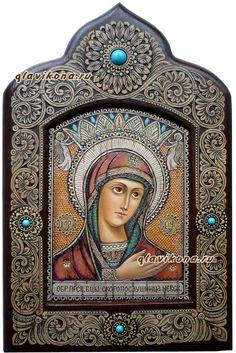 Икона писанная на бересте Скоропослушница - Невская