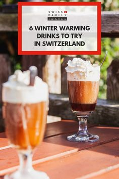 What do the Swiss drink in winter? What is a Kafi Lutz? How to make Glühwein? Here is 6 winter warming drinking to try in Switzerland. Swiss Fondue, Swiss Recipes, After Dinner Drinks, Swiss Chocolate, Family Travel, Tower, Swiss Cheese, Milkshakes, Non Alcoholic