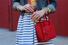 Stripes and neon orange!