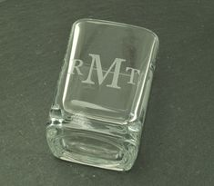 Monogrammed Shot Glass for Groomsmen Gifts by netexchange on Etsy, $9.95