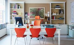 colorful stylish home office
