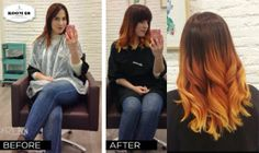 Fire Hair Before-After Coco by Room 28 Barcelona