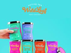 Wild Leaf offers rejuvenating teas for those with an active lifestyle. Sweety & Co. developed the branding and packaging for the herbal supplement that's good for both the body and the mind. Tea Packaging, Food Packaging Design, Packaging Design Inspiration, Brand Packaging, Food Branding, Pretty Packaging, Product Packaging, Packaging Ideas, Design Package