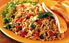 Κάστανο ρύζι με μεσογειακά αρώματα | athensgo Dishes To Go, Main Dishes, Side Dishes, Soup Appetizers, Main Dish Salads, Grain Foods, Breakfast Lunch Dinner, Greek Recipes, Weight Watchers Meals