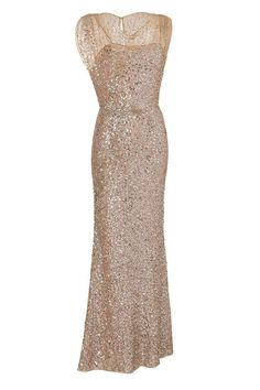 Glittery gold dress for the glamorous bridesmaids