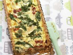 There's no need to miss out on delicious pastry dishes because of allergies. This tasty chicken, semi-dried tomato and spinach tart is gluten-free, and beautiful enjoyed warm from the oven or served cool as a lunch-box snack.