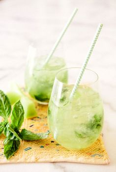Honeydew Basil Spritzer - a house in the hills - gimme one now! @agrenier0154