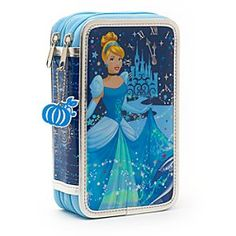 Disney Cinderella Filled Pencil Case | Disney StoreFree Delivery - Bring a touch of ballroom glamour to the classroom with our Cinderella pencil case! The double-compartment design features holographic artwork, and contains felt tips, pencils a ruler and much more!