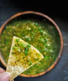Use tomatillos to make this blended Roasted Salsa Verde recipe for Cinco de Mayo.