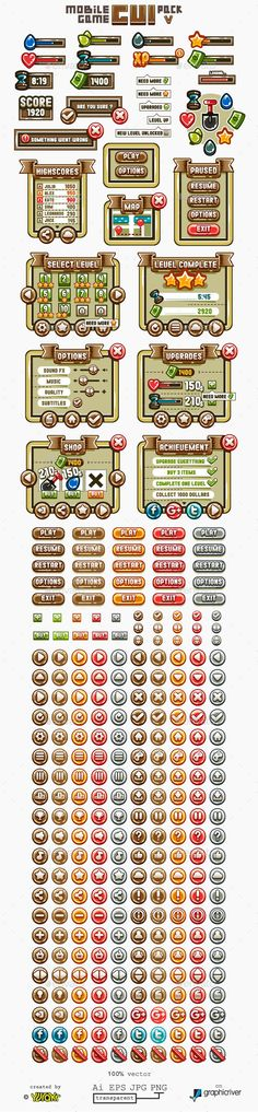 Mobile Game GUI Pack 5 Download here: https://graphicriver.net/item/mobile-game-gui-pack-5/15504102?ref=KlitVogli