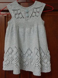 Ravelry: DeniseCT's Baby Lowe Lizzy Dress in Crystal Palace Yarns Panda Cotton