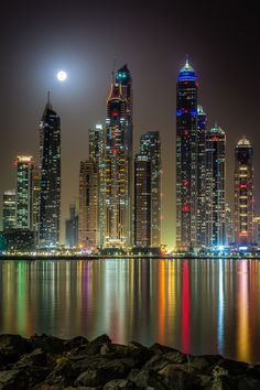 ~~Full Moon | nightscape, view from the Dubai marina | by Björn Witt~~