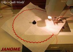 Ulla's Quilt World: Lid of a jar, quilt