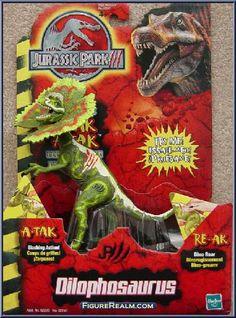 Hasbro Jurassic Park III: Electronic RE-AK A-TAK Dilophosaurus 2001