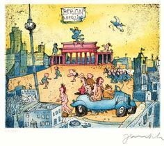 Brandenburger Tor von Janosch präsentiert von der Galerie am Dom in Frankfurt und Wetzlar