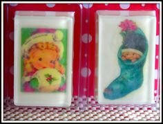 VINTAGE LITTLE GIRLS Christmas Soap Art by SCENTSOFHUMORCANDLES, $12.00