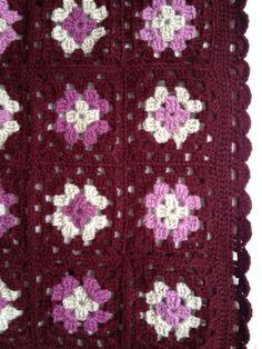 Piecera 4 colores #crochet
