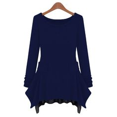 This dress is in casual European style with solid color, pullover style, O neck, chiffon stitching irregular hem and long sleeves. It is soft and comfortable to wear. It can show your personality perfectly. It is a perfect option for you, act now.  Features: * Solid color * Orregular chiffon ...