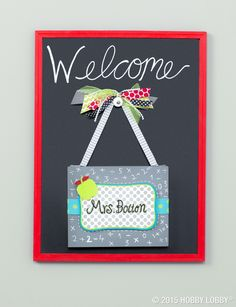 Help your favorite teacher celebrate the first day of school with a personalized sign of the times.