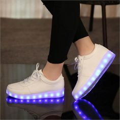 Cheap children shoes with light, Buy Quality children shoes directly from China sneakers children Suppliers: USB //Glowing Luminous Sneakers Children Shoes With Light Up Sneakers For Kids Boys&Girls Basket Led Enfant Tenis Led Feminino Led Light Up Sneakers, Light Up Trainers, Light Up Shoes, Lit Shoes, Shoes With Lights, Neon Shoes, Girls Sneakers, Girls Shoes, Shoes Women