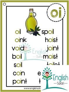 Phonics Chart, Phonics Blends, Phonics Worksheets, English Worksheets For Kids, English Lessons For Kids, Spelling Lists, Spelling Words, Phonics Reading, Teaching Phonics