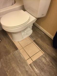 DIY Luxury vinyl Tile Cover ugly old tile! – Amber Nichole Jackson💗 DIY Luxury vinyl Tile Cover ugly old tile! DIY Luxury vinyl Tile Cover ugly old tile! Diy Bathroom, Tile Covers, Home Remodeling, Vinyl Tile Bathroom, Small Bathroom Tiles, Flooring, Bathroom Flooring, Remodel Bathroom Floor, Bathroom Redo