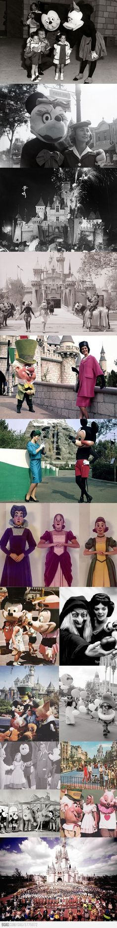 Old photos from Disneyland ok when i was a kid i was scared of people in suits like winnie the pooh and mickey but im starting to think some of the costumes were the reason i was scared O.o
