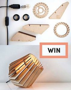 Want to win the coolest lamp you've ever seen? CrowdyHouse will be giving away 10 CP-mini Spots, a best selling fan favourite. Gorgeous Lamp Design With Modern Style 42 Join Product Testing USA for your chance to test & keep any products For… Spring E Laser Cut Lamps, Laser Cut Wood, Laser Cutting, Lampe Laser, Diy Luz, Diy Furniture, Furniture Design, Furniture Cleaning, Furniture Websites