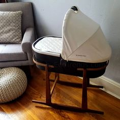 Rocking Stand for UPPAbaby Bassinet – Mocha - Modern Baby Necessities, Baby Essentials, Baby Needs, Baby Love, Baby Baby, Uppababy Stroller, Preparing For Baby, Baby Bassinet, Everything Baby