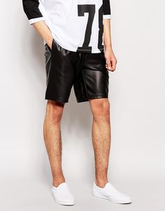 ASOS+Shorts+In+Leather+Look